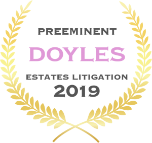 Estates litigation - Preeminent - 2019